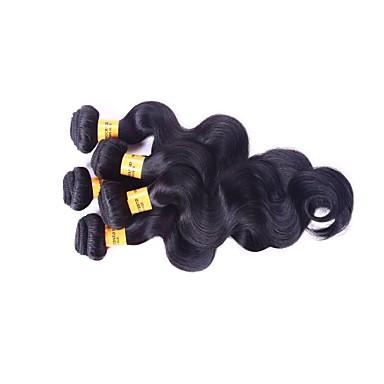 3 Pièces Ondulation naturelle Tissages de cheveux humains Cheveux Mongoliens 100 8 Extensions de cheveux humains