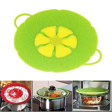 főzési eszközök virág szilikon fedő bukás dugóval szilikon fedél a pan (véletlenszerű szín)