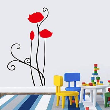 Blomster Tegneserie Veggklistremerker Fly vægklistermærker Dekorative Mur Klistermærker, Vinyl Hjem Dekor Veggoverføringsbilde Vegg