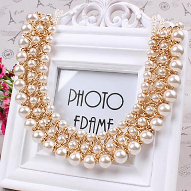 Damen Gestalten Modisch Künstliche Perle Europäisch Halsketten Perle Künstliche Perle Halsketten Alltag Normal Modeschmuck