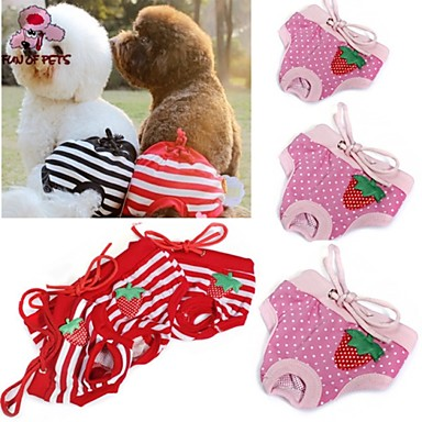 Cat Dog Pants Dog Clothes Polka Dot Bowknot Red Pink Cotton Costume For Pets Cosplay Wedding
