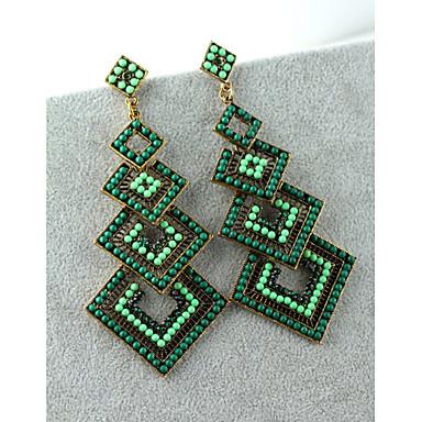 Damla Küpeler Kristal Moda Avrupa İnci İmitasyon İnci Yapay Elmas 18K altın imitasyon Pırlanta Avusturya Kristali alaşımGri Yeşil Pembe