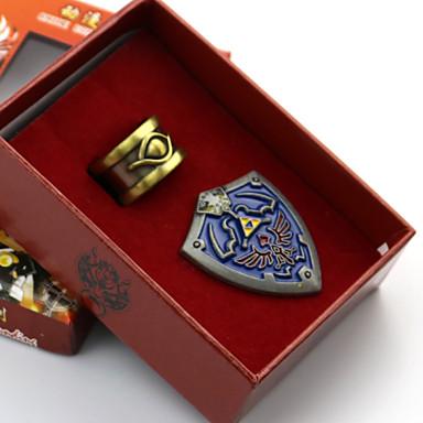 Smykker Emblem Inspirert av The Legend of Zelda Cosplay Anime / Videospill Cosplay-tilbehør Emblem Legering Herre