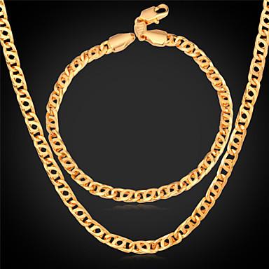 Herrn Schmuckset Hochzeit Party Alltag Normal Sport vergoldet Aleación Halsketten Armband