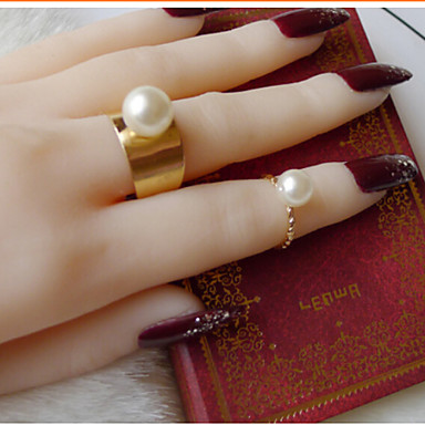Women's Pearl Gold Silver Alloy Costume Jewelry