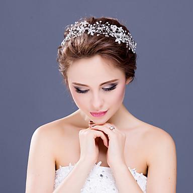 Femme Jeune bouquetière Strass Cristal Alliage Casque-Mariage Occasion spéciale Décontracté Serre-tête 1 Pièce