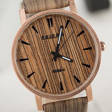 Męskie Damskie Dla obu płci Zegarek Drewno Unikalne Kreatywne Watch Zegarek na nadgarstek Kwarcowy Wodoszczelny drewniany PU Pasmo Vintage