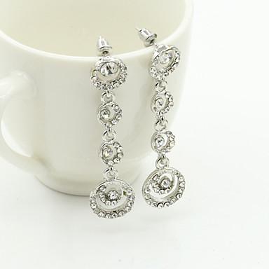 Women's Crystal Drop Earrings - 18K Gold Plated, Rhinestone, Gold Plated European, Fashion Gold / Silver For / Imitation Diamond / Austria Crystal