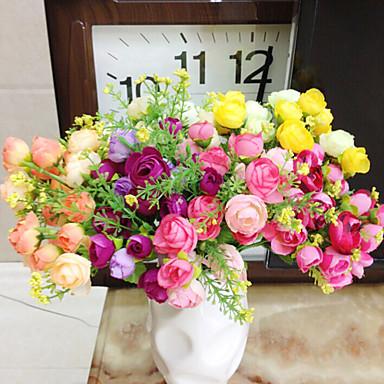 1 Κλαδί Πολυεστέρας Πλαστικό Camellia Λουλούδι για Τραπέζι Ψεύτικα λουλούδια