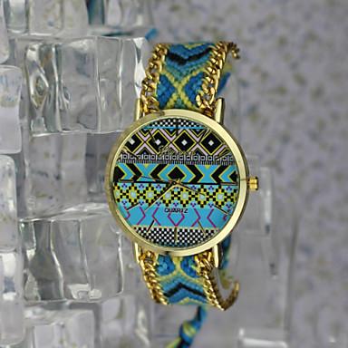 Жен. Модные часы Кварцевый Повседневные часы сплав Группа Цветы Винтаж Богемные Золотистый