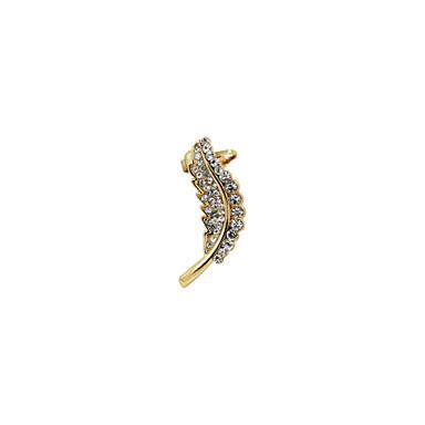 Damskie Ear Cuffs Luksusowy Kryształ górski Imitacja diamentu Stop Leaf Shape Biżuteria Ślub Impreza Codzienny Casual Sport