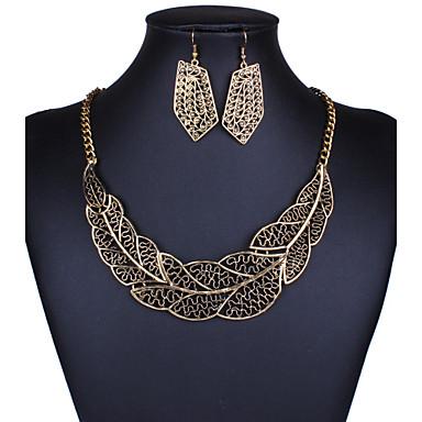 Šperky Set Šperky Slitina Elegantní luxusní šperky Zlatá Stříbrná Denní  1Nastavte 1 x náhrdelník 1 x 73d102a809a
