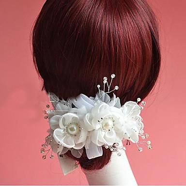 Kadın Çiçekçi Kız Yapay Elmas İmitasyon İnci Başlık-Düğün Özel Anlar Çiçekler 1 Parça