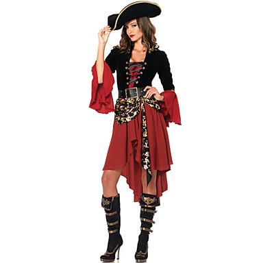 Пираты Косплэй Kостюмы Костюм для вечеринки Женский Фестиваль / праздник Костюмы на Хэллоуин Хэллоуин Карнавал Пэчворк
