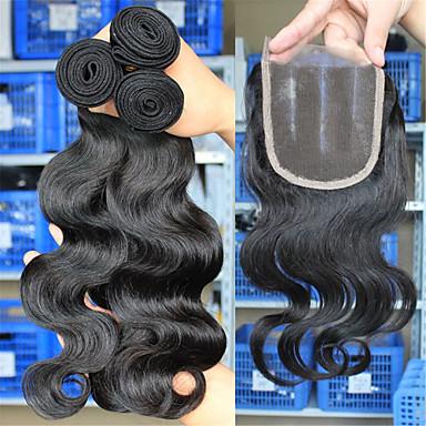 İri Dalgalı Peru Saçı Kapanması Saç Atkı Vücut Dalgası Saç uzatma
