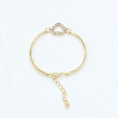 Kristall Strass Österreichisches Kristall 18K Gold Niedlich Ketten- & Glieder-Armbänder - Retro Party Büro Gold Silber Armbänder Für