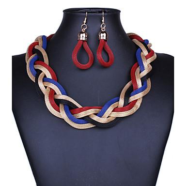 Γυναικεία Κοσμήματα Σχήμα Βίντατζ Κοσμήματα με στυλ Κρεμαστά Σκουλαρίκια Κολιέ Δήλωση Κράμα Κρεμαστά Σκουλαρίκια Κολιέ Δήλωση Πάρτι