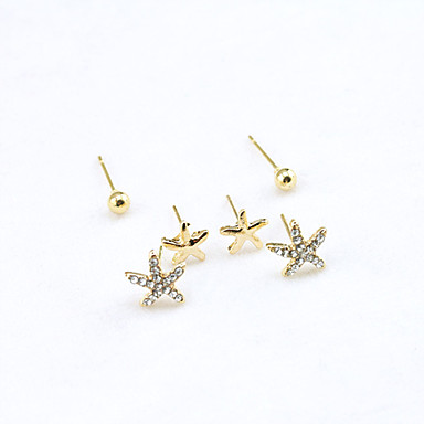 Women's Crystal Stud Earrings - 18K Gold Plated, Rhinestone, Gold Plated European, Fashion Gold For / Imitation Diamond / Austria Crystal