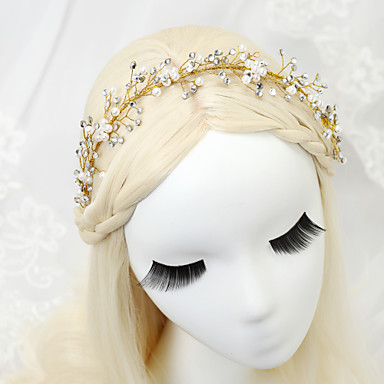 Imitation Pearl Rhinestone Alloy Headbands Headpiece Elegant Style