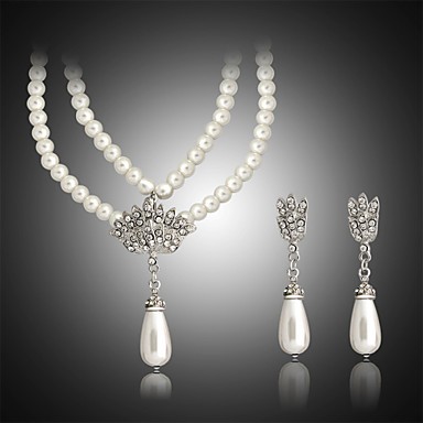 Women's Pearl Jewelry Set - Pearl Include White For Wedding / Party / Birthday / Earrings / Necklace