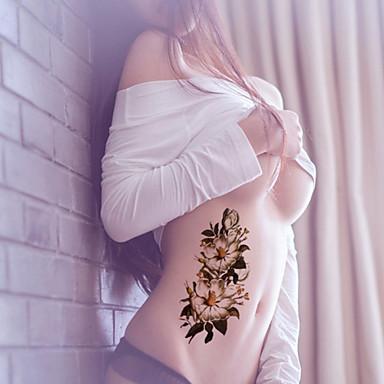 Tetkó matricák Virág sorozat Non Toxic Waterproof Baba Gyerek Női Girl Férfi Felnőtt Boy Tini flash-Tattoo ideiglenes tetoválás