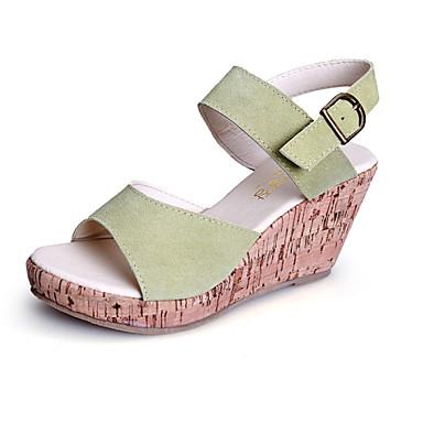 Women's Shoes  Wedge Heel Wedges/Heels/Platform/Comfort/Open Toe Sandals Casual Black/Green/Beige