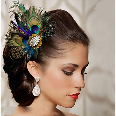 Feder Haarschmuck Feder Perücken Accessoires Damen Stück 6-10cm cm