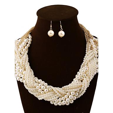 Damen Perle Künstliche Perle Aleación Retro Party Freizeit Mehrlagig Party Ohrringe Halsketten Modeschmuck