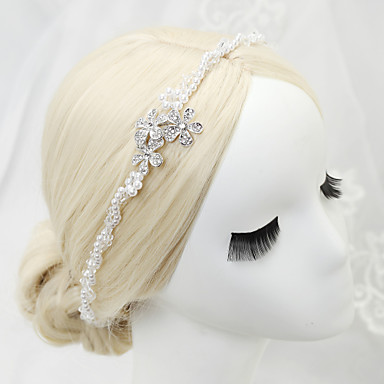 Tule Headbands with Penas 1 Festa / Eventos Capacete