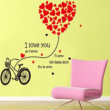 duvar çıkartmaları duvar çıkartmaları tarzı aşk bisiklet pvc duvar çıkartmaları