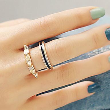 Vintage Alloy Cubic Zirconia Multi Finger Ring