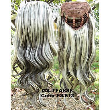 Synteettiset peruukit Laineita Classic Korkealaatuinen Tiheys Naisten Synteettiset hiukset