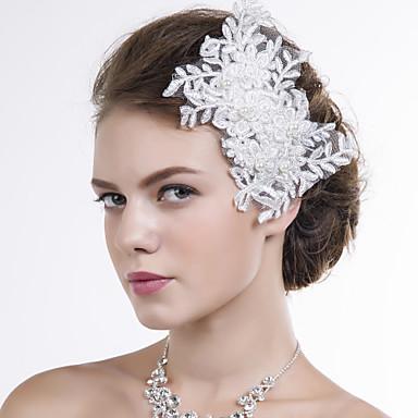 Γυναικείο Δαντέλα Headpiece-Γάμος Ειδική Περίσταση Λουλούδια 1 Τεμάχιο