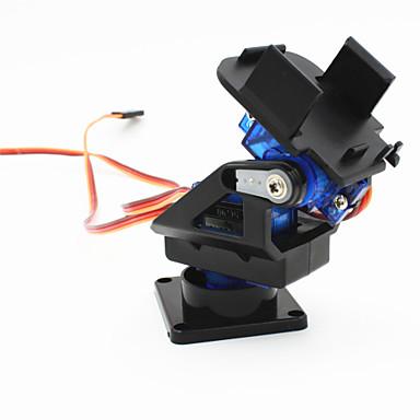 2-Achs-Schwenkkopf FPV Kamera w / Dual Servo 9g / Lenkgetriebe für Roboter / r / c Auto - Schwarz + Blau