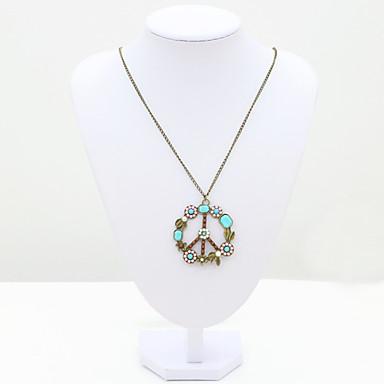 Femme Mode Européen Pendentif de collier Cristal Strass Imitation Diamant 18K or Cristal Autrichien Pendentif de collier ,