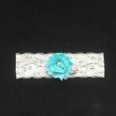 레이스 패션 웨딩 가터  -  모조 진주 꽃패턴 가터벨트