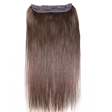 ibeshion pedaço de cabelo 100 gramas 5 clipes de grampo reto em extensões de cabelo humano # 1 # 1b # 2 # 4 # 6 # 8 cabelo brasileiro