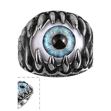 voordelige Herensieraden-Heren Ring Zwart Roestvast staal Titanium Staal Punk Causaal Sieraden Kwaad oog Magie
