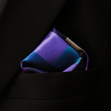 ih28 shlax&szárny ellenőrzött kék rózsaszín barna zsebkendők férfi nyakkendők hanky