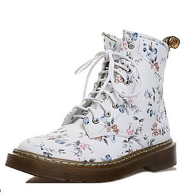 Γυναικεία παπούτσια - Μπότες - Καθημερινά - Χαμηλό Τακούνι - Άρβιλα - Δέρμα    Ύφασμα - bda193667f3