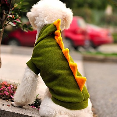 Γάτα Σκύλος Στολές Σύνολα Φούτερ με Κουκούλα Ρούχα για σκύλους Στολές Ηρώων Γάμος Halloween Κινούμενα σχέδια Ζώο Πράσινο Στολές Για