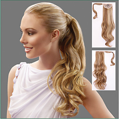 Κουμπωτό Κυματομορφή Σώματος Αλογορουρές Κομμάτι μαλλιών Hair Extension 24 Ίντσες Καστανό #6 #27 #30 #P27.613
