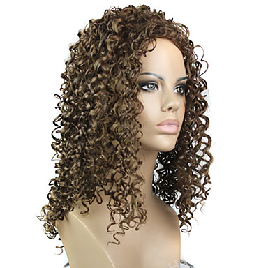 The European And American Styles Lady Small Hair Curly Wig in 12# Color