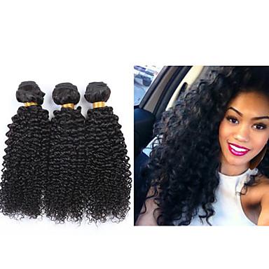 Brasilianisches Haar Curly Weave Afro-Frisur Kinky-Curly Menschliches Haar Webarten 3 Stück 0.1