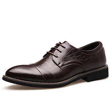 Men's Shoes Wedding/Office & Career/Party & Evening Leather Oxfords Black/Brown