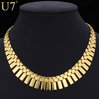 Women's Geometric Collar Necklace / Necklace - Vintage, Party, Work Gold, Silver Necklace For Special Occasion, Birthday, Gift
