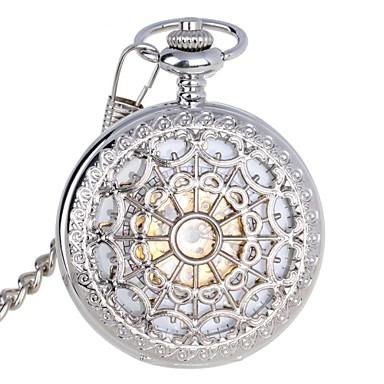 Herrn Automatikaufzug Mechanische Uhr Taschenuhr Wasserdicht Transparentes Ziffernblatt Edelstahl Band Luxus Silber