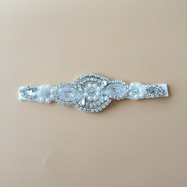 Stretch Satin Fashion Wedding Garter with Rhinestone Garters