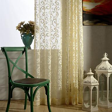 χώρα curtains® ένα πλαίσιο floral ζακάρ κουρτίνα κουρτίνα καθαρή