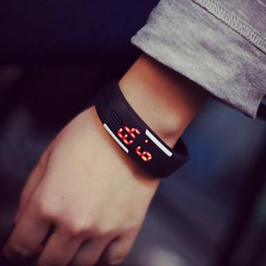 Herrn Damen Paar digital Armband-Uhr LED Caucho Band Elegant Modisch Schwarz Weiß Blau Rot Orange Grün Rosa Gelb